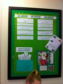Grönt innebär den högsta graden av inlärningsteknik. Kreativt, engagerat, medvetet.