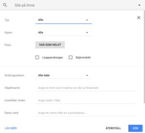 Veckans Tips Sökfunktion I Google Drive - Google dokument